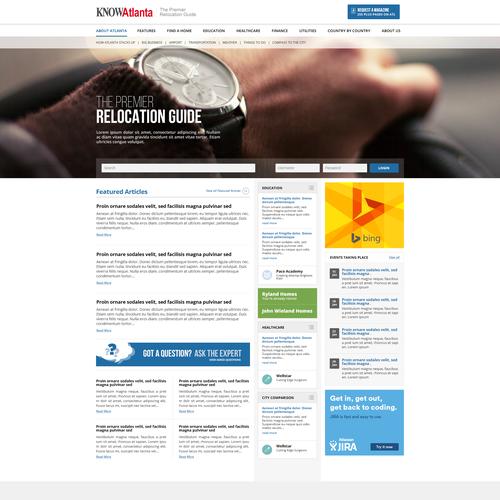 Web page design for Know Atlanta