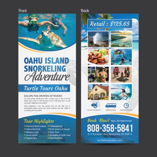 Flyer for Oahu Island Adventure