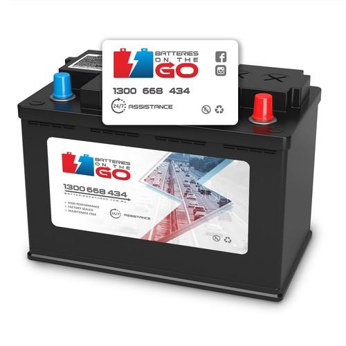 Car battery label