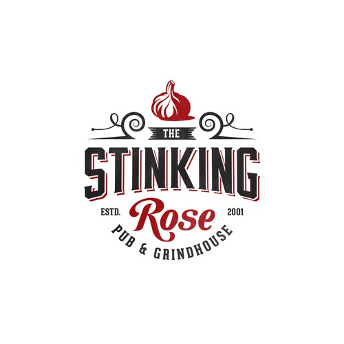 Logo Design for The Stinking Rose Pub & Grind House