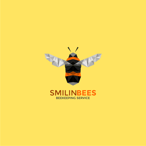 logo concept for smilin bee