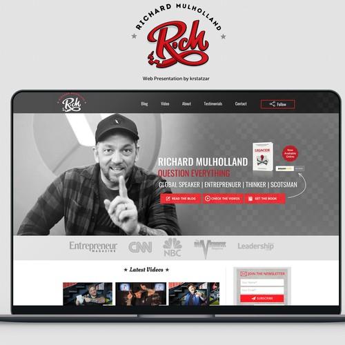 Entrepreneur and public speaker website