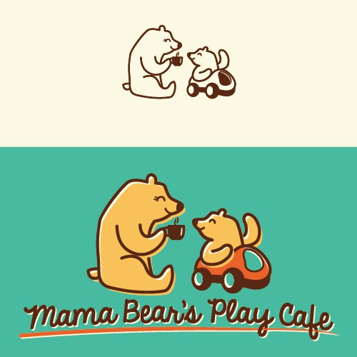 Playful logo for play cafe