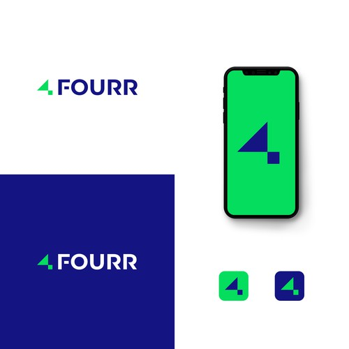 Minimal logo design for a tech company