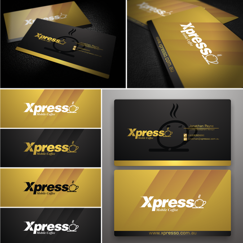 logo and business card for Xpresso