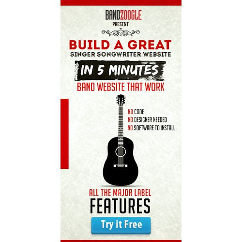 Bandzoogle needs a new banner ad