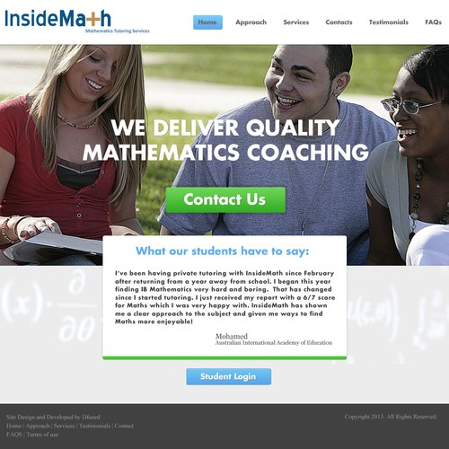 Site design for InsideMath