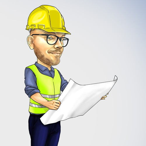 caricature of the CEO