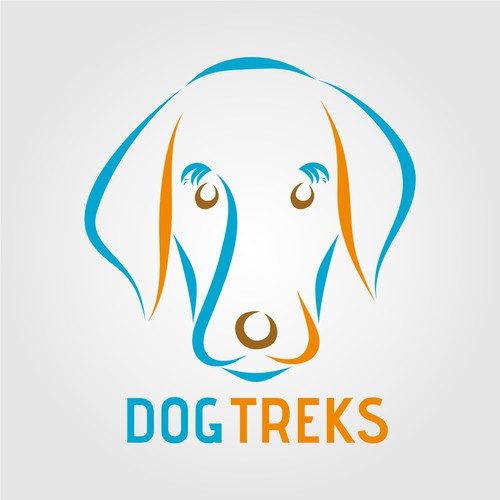 Create a logo for a fun and Modern Dog walking business!