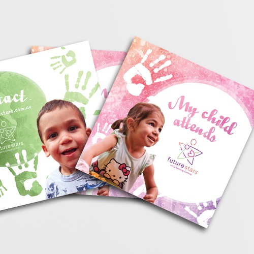 Referral card and flyer for childcare educational center