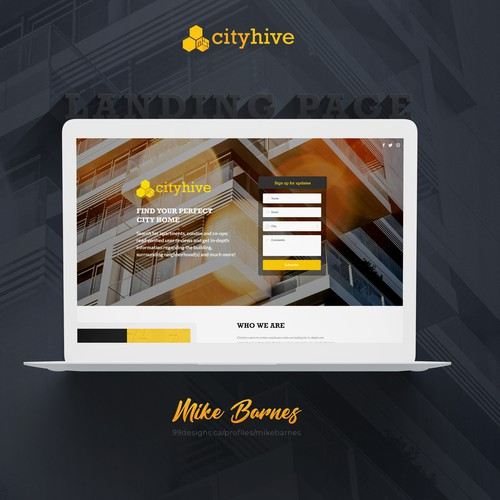 Cityhive - Landing Page