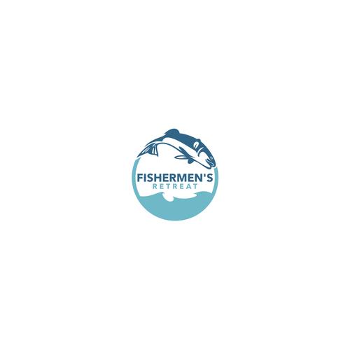 Create hkmrfhma Carp fishing lake logo for the Fishermens Retreat