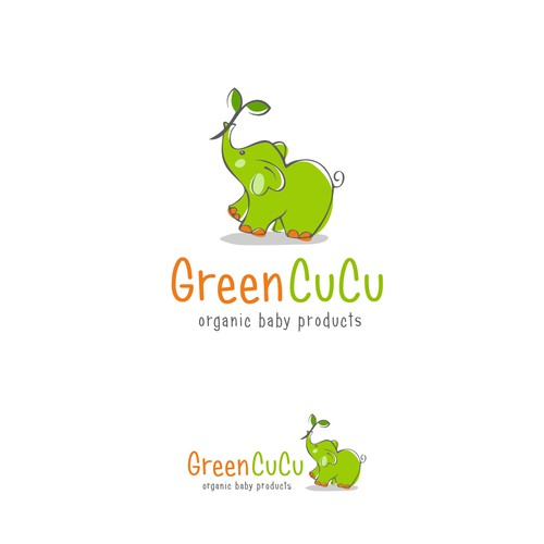 Cute logodesign for an organic baby product