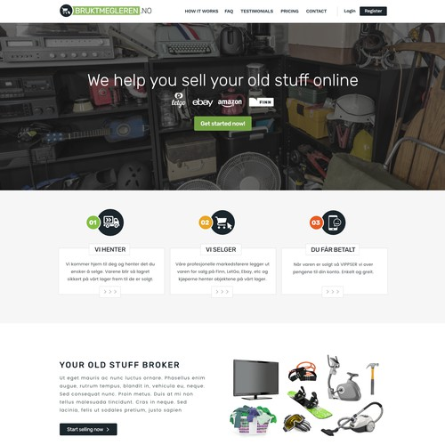 Web Design for Used stuff broker in Norway