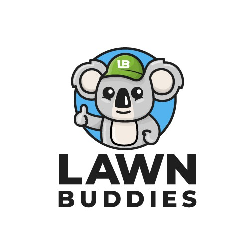 Mascot logo for a Lawn Care Services