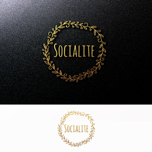 Create a clean, organic, modern, light hearted logo for Socialite Events