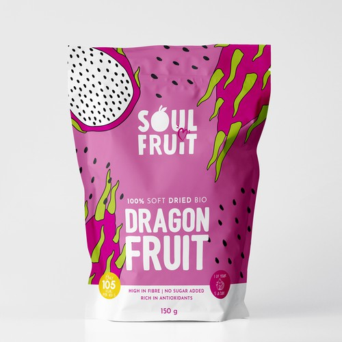 fun and colorful packaging design for food product