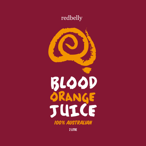 Blood Orange Juice Label