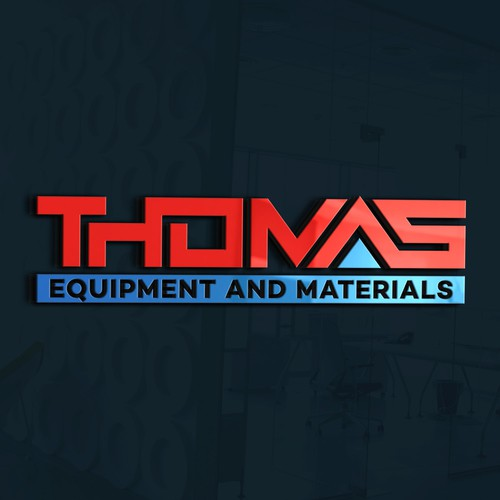"""Basic modern logo with good colors emphasizing """"T.E.A.M"""" or """"Thomas""""."""