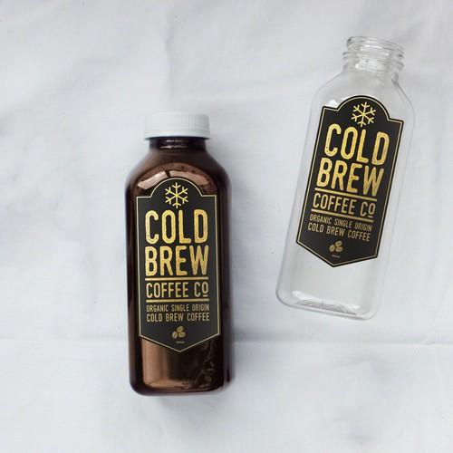 Cold Brew Coffee Label Design