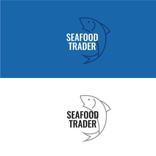 Modern seafood distributor logo