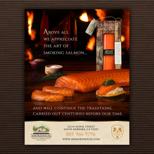 Cambridge House Smoked salmon Ad