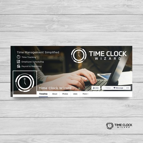 Time Clock facebook banner