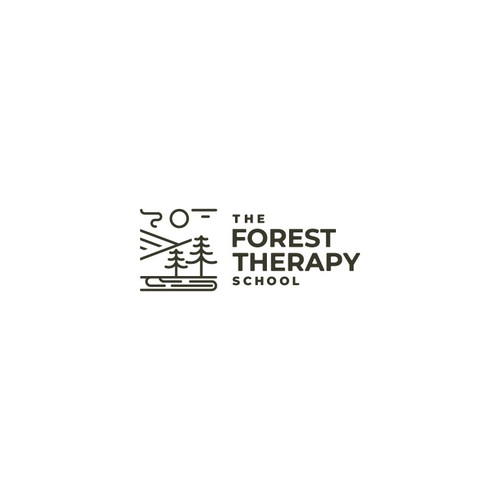 Line logo for The Forest Therapy School