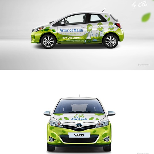 Car wrap for Army of Maids