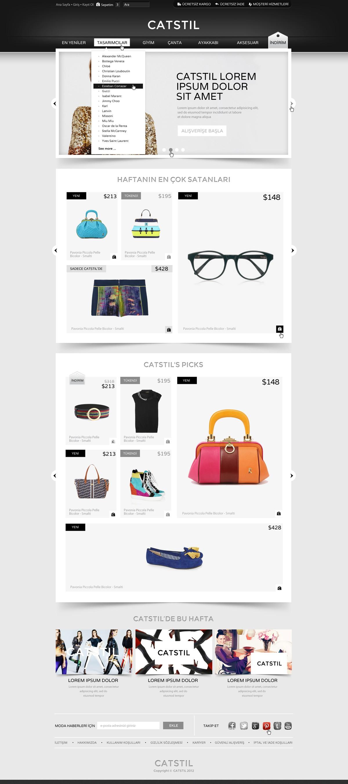 CATSTIL needs a new homepage design