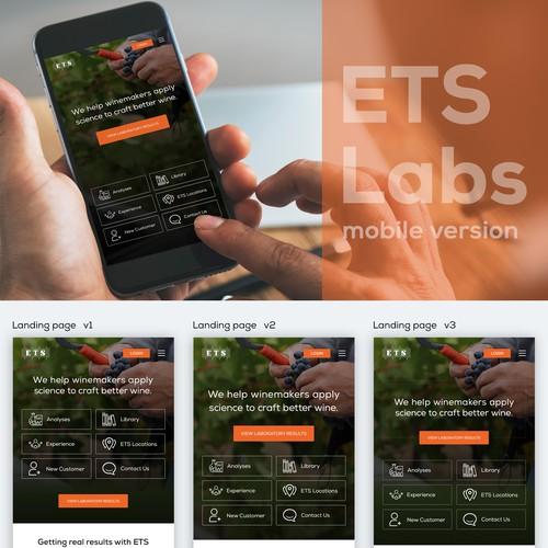 Clean, user friendly mobile website concept
