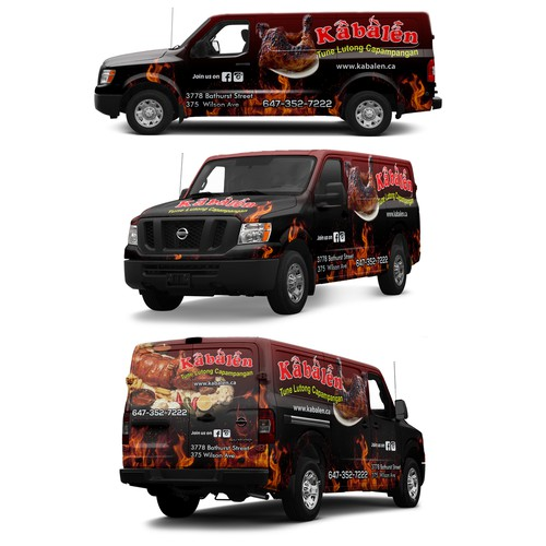 Nissan NV wrap for a Philipino restaurant
