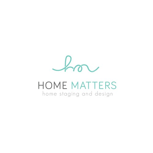 Playful clean logo for interior designers