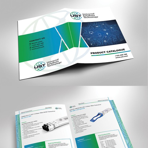 Design a Datasheet brochure for seed-phase Company.