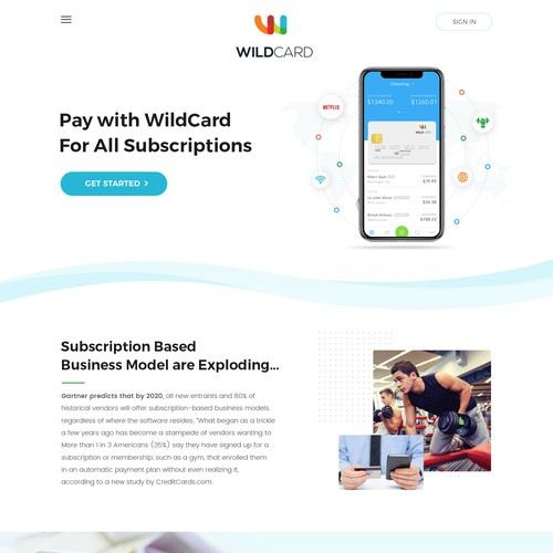 WildCard Landing page