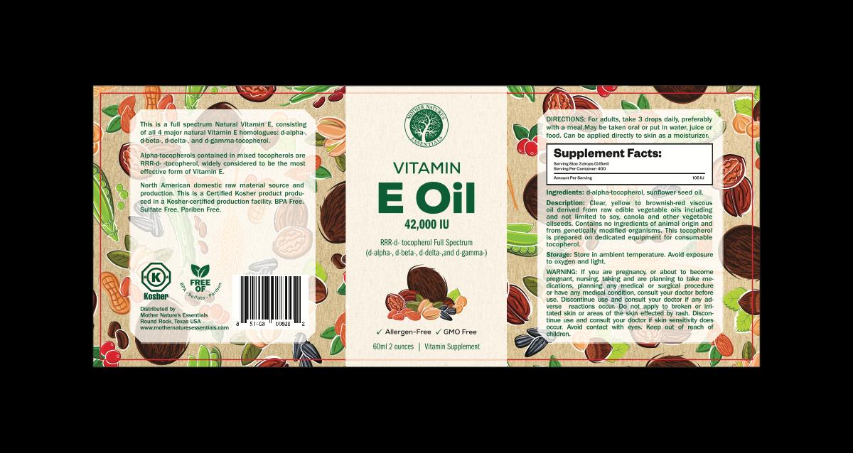 MNE Food grade vitamin e oil