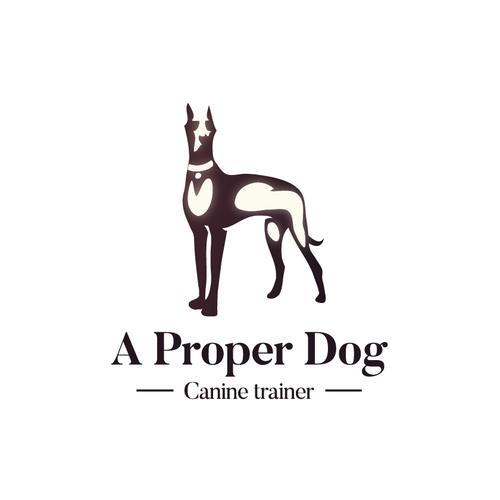 Dog logo for Canine trainer