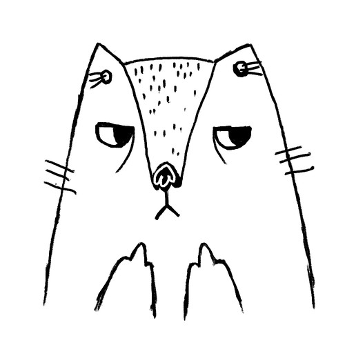 Mad Cat Illustration
