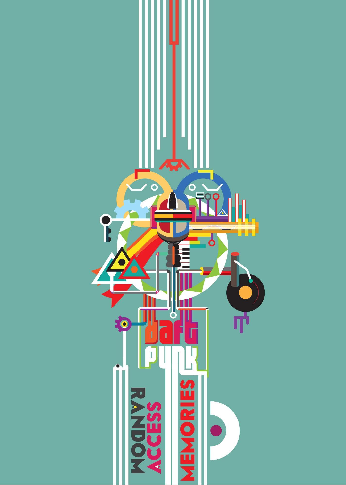 99designs community contest: create a Daft Punk concert poster