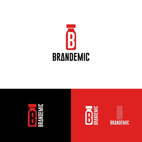 Logo for agency with vaccine concept