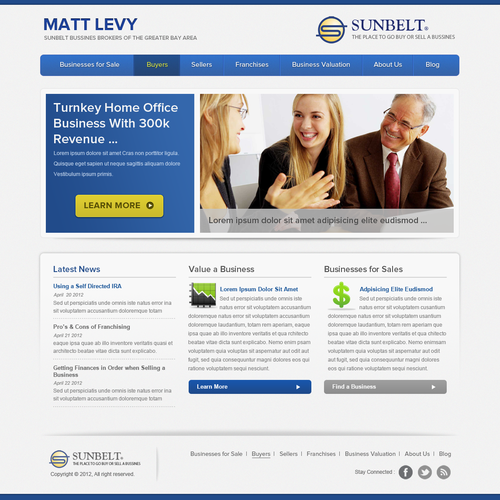 Help Sunbelt Business Brokers with a new website design