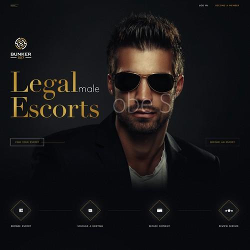 Luxurious web design for escort service