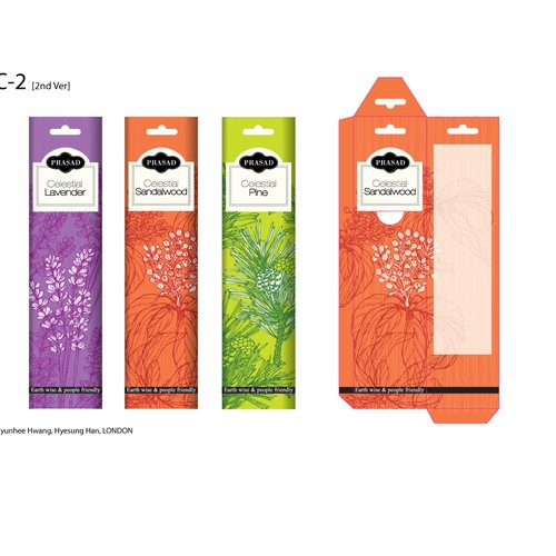 Create A Beautiful New Package For Our Widely Distributed Incense Line