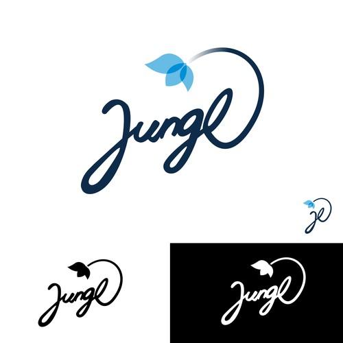 Digital and natural logo combination