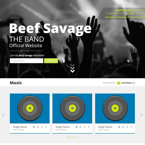 Profile Landing Page - Template/Model for All Sub-Pages