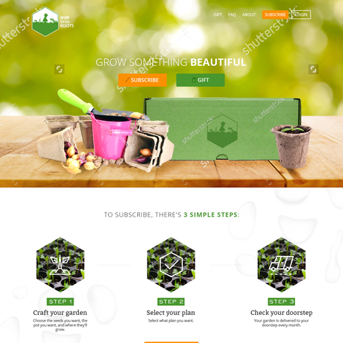 Monthly Seeds Subscription Box Homepage Design