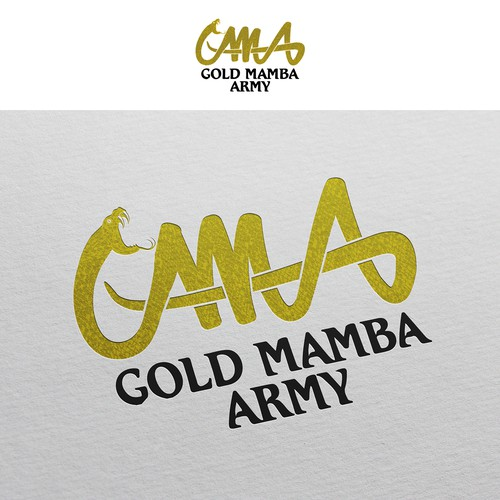 Logo design for Gold Mamba Army Basketball Agency