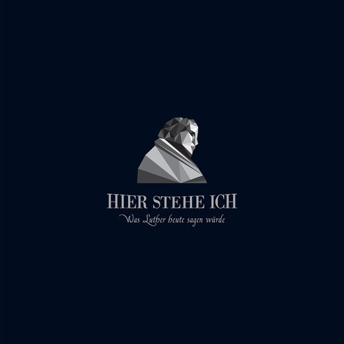 Modern logo for a presenter of Luther's hystorical role.