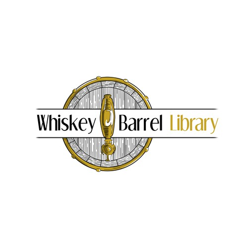 Whiskey and cocktail bar, logo design