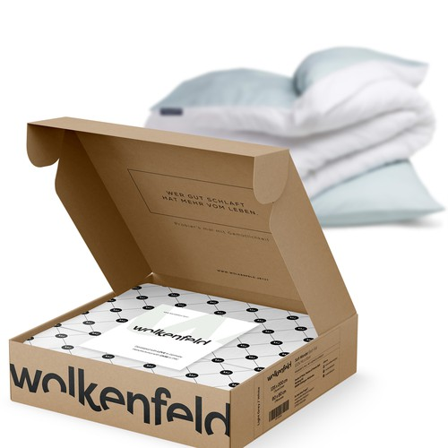WOLKENFIELD - E-COMMERCE - Organic cardboard packaging design